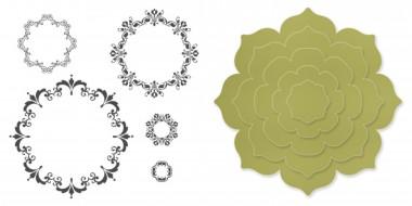 medaillons fleuris