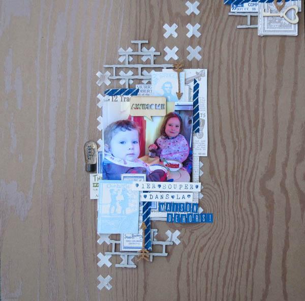 page de scrapbook Stampin'up! Maison dehors