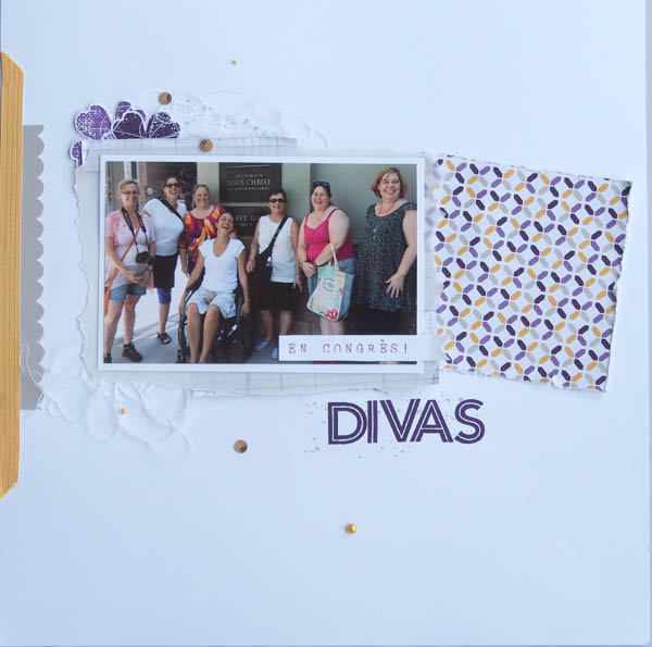 page de scrapbook Stampin'up! Divas