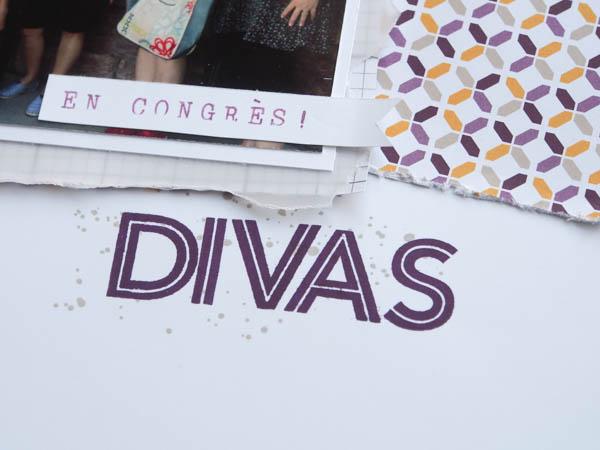 Détails page de scrapbook Stampin'up! Divas
