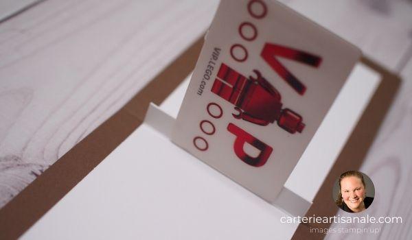 Porte certificat cadeau pop-up